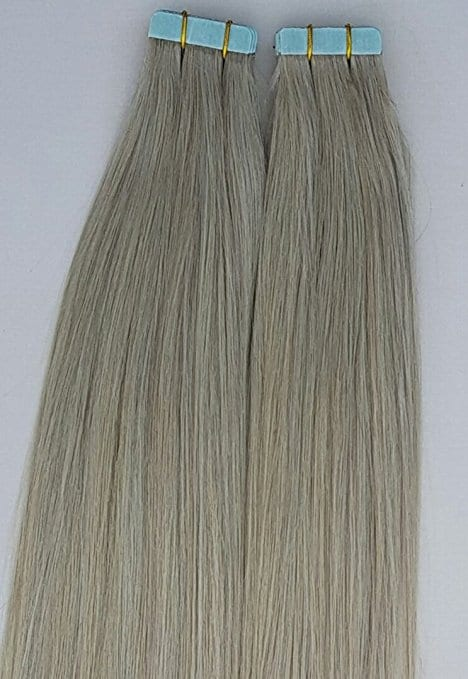 18 20 100grs 40pcs 100 Human Tape In Hair Extensions Ash