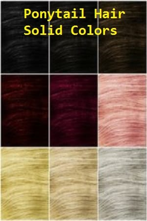 Solid Color Ponytail Hair Extensions