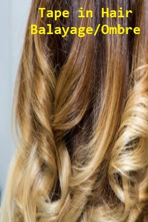 Balayage/Ombre Color Tape in Hair Extensions