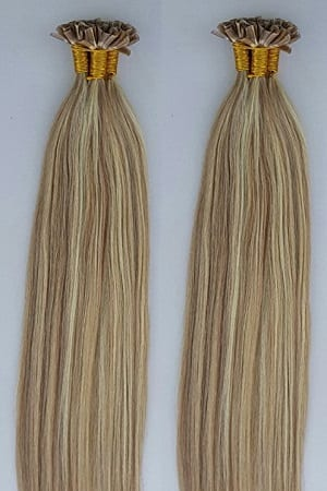 1822 highlighted 100grams100strands u tip nail tip fusion 1822 highlighted 100grams100strands u tip nail tip fusion keratin pre bonded remy human hair extensions 18613 dark blonde mixed with platinum pmusecretfo Image collections