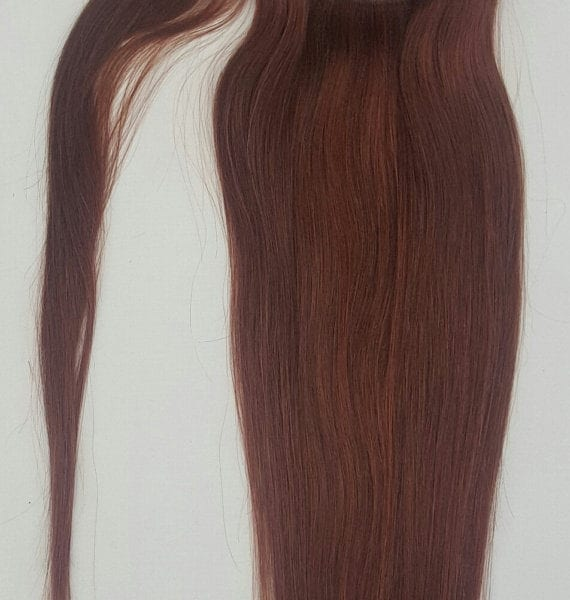 18 100 Human Hair Wrap Around Ponytail Hair Extensions 33 Dark