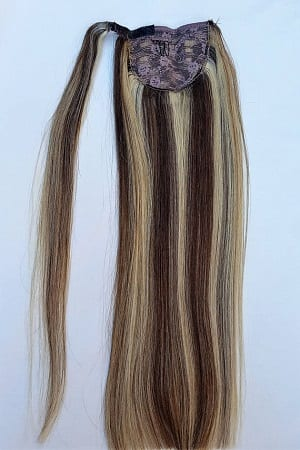 18 100 highlighted human hair wrap around ponytail hair 18 100 highlighted human hair wrap around ponytail hair extensions 4613 dark brown mixed with platinum blonde pmusecretfo Image collections