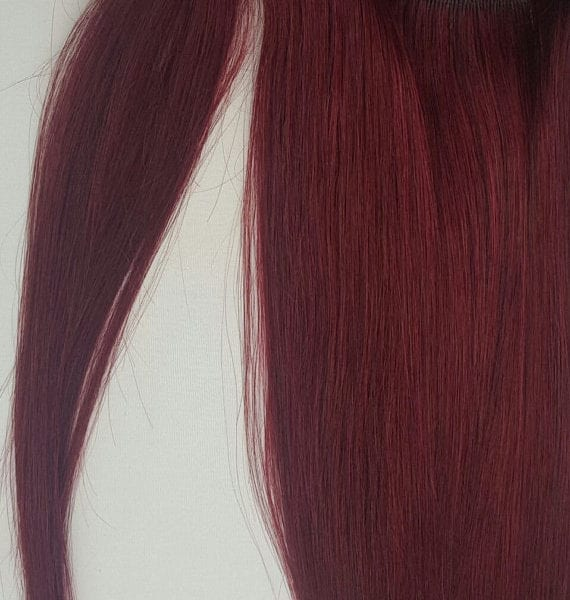 18 100 human hair wrap around ponytail hair extensions 99j 18 100 human hair wrap around ponytail hair extensions 99j burgundy red wine pmusecretfo Choice Image