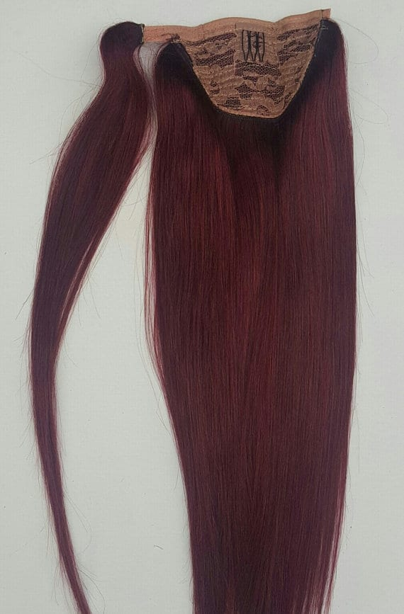 18 100 Human Hair Wrap Around Ponytail Hair Extensions 99j