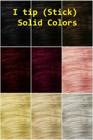 Solid Color I tip (Stick) Hair Extensions