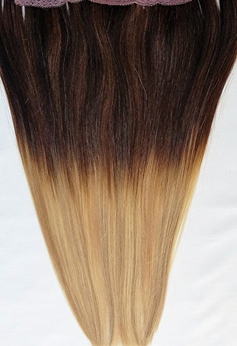 18 20 100 Ombre Balayage Human Hair Extensions Halo Style One