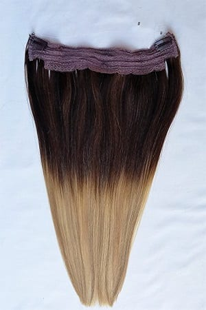 18 20 100 Ombre Balayage Human Hair Extensions Halo Style One Piece With An Adjule Invisible Wire Fishing String T2 613