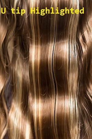 Highlighted Color U tip (Nail) Hair Extensions