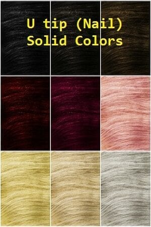 Solid Color U tip (Nail) Hair Extensions