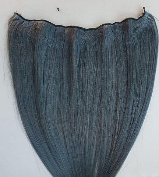 18 20 100 human hair extensions halo style one piece with 18 20 100 human hair extensions halo style one piece with an adjustable invisible wire fishing string dark silver steel gray pmusecretfo Gallery