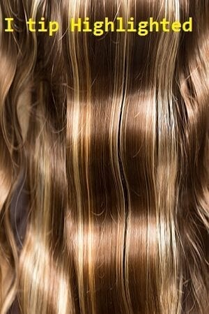 Highlighted Color I tip (Stick) Hair Extensions