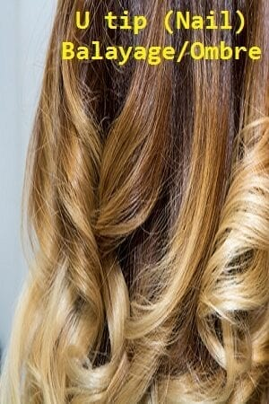Balayage/Ombre Color U tip (Nail) Hair Extensions
