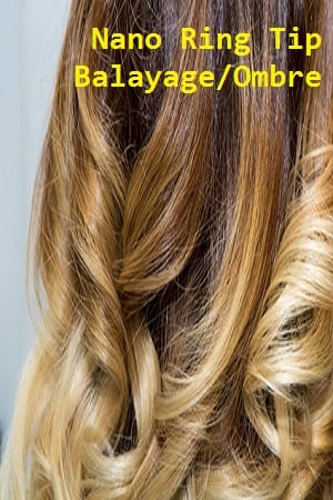 Balayage/Ombre Color Nano Ring Hair Extensions