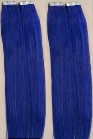 18 100grs 40pcs 100 human tape in hair extensions blue hair 18 100grs 40pcs 100 human tape in hair extensions blue hair faux you pmusecretfo Gallery