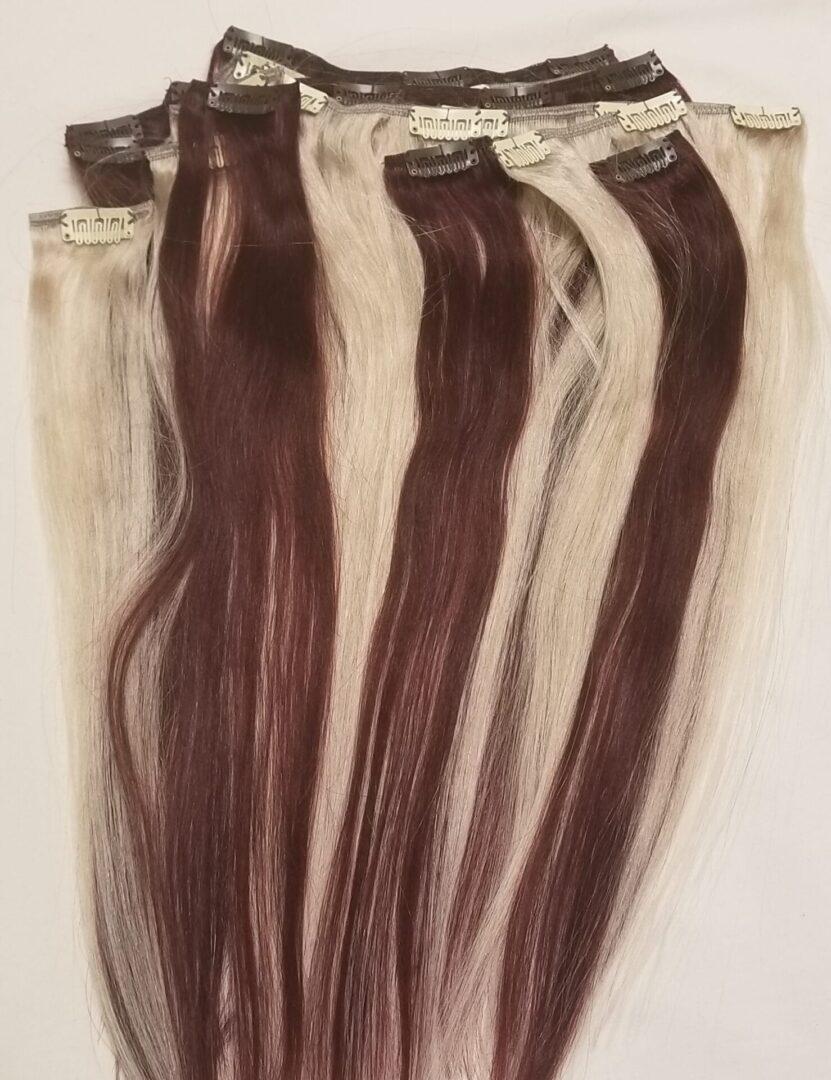 Full Head 18inches 7 14pcs 80 160grams Clip In Human Hair