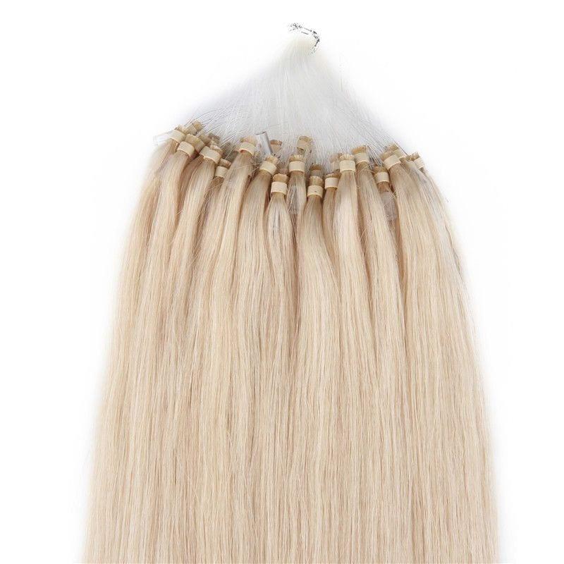 18 100 Grams100 Strandsmicro Loop Rings Beads Tipped Human Hair