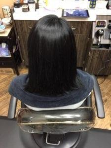 Hair weft # 1 - Before