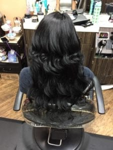 Wavy Hair weft # 1 - After