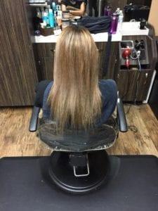 Hair Weft # 16 Honey Blonde- Before