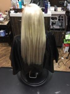 Weft # Light Ash Blonde- Before