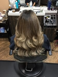 Hair Weft # 16 Honey Blonde- After