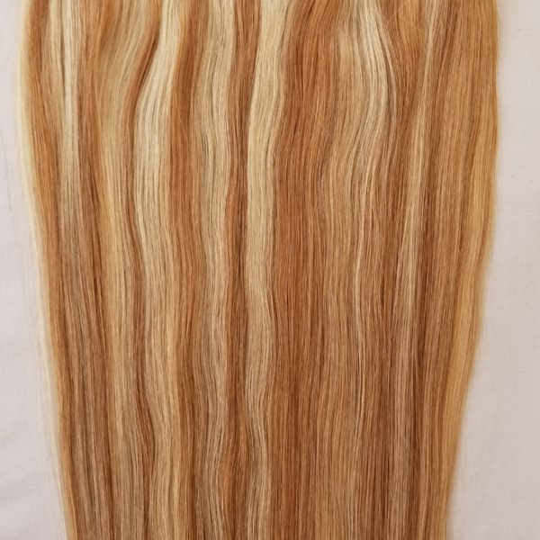 18 20 100 Highlighted Human Hair Extensions Halo Style One