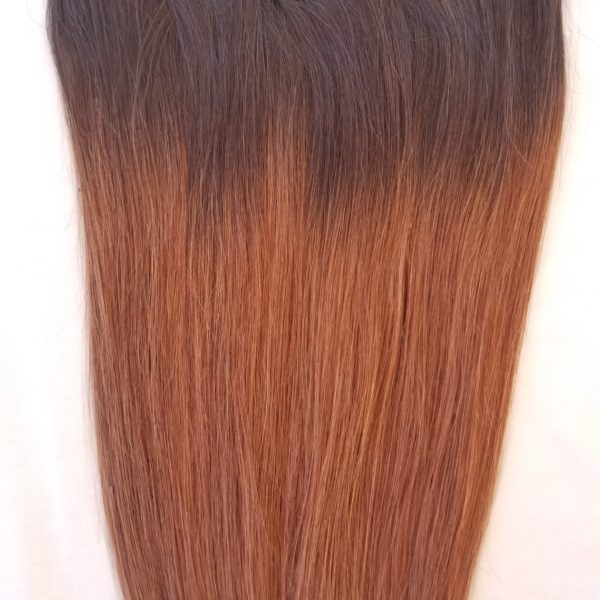 18202224 100 Ombre Clip In Human Hair Extensions 7pcs14