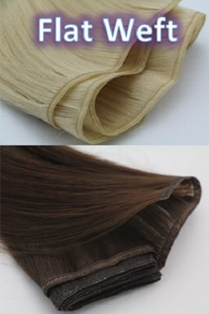 Ribbon Flat Weft Hair Extensions
