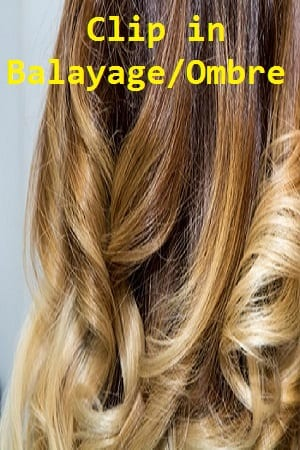 Balayage Ombre Clip in Hair Extensions