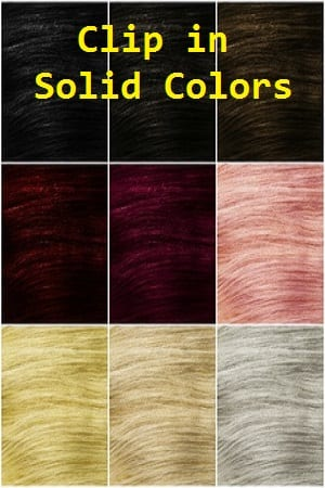 Solid Color Clip in Hair Extensions