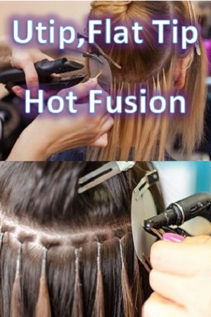 Utips, Flat Tips Hair Extensions (Hot Fusion)