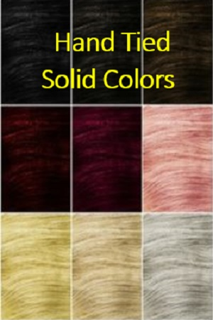 Solid Color Hand Tied Wefts Hair Extensions