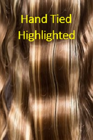 Highlighted Color Hand Tied Wefts Hair Extensions