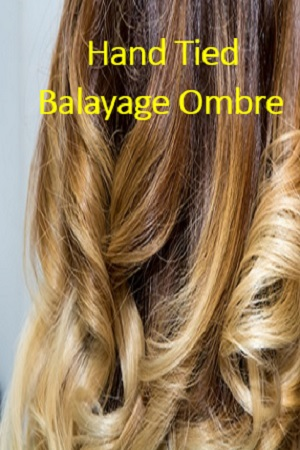 Balayage Ombre Color Hand Tied Wefts Hair Extensions